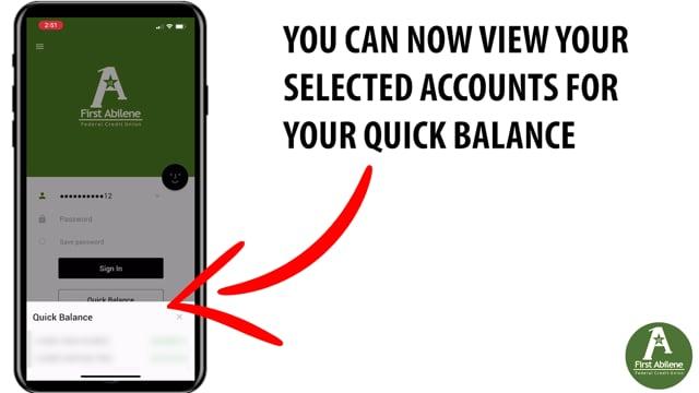 App: Quick Balance