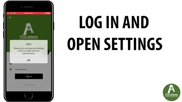 App: Signing in with Touch ID