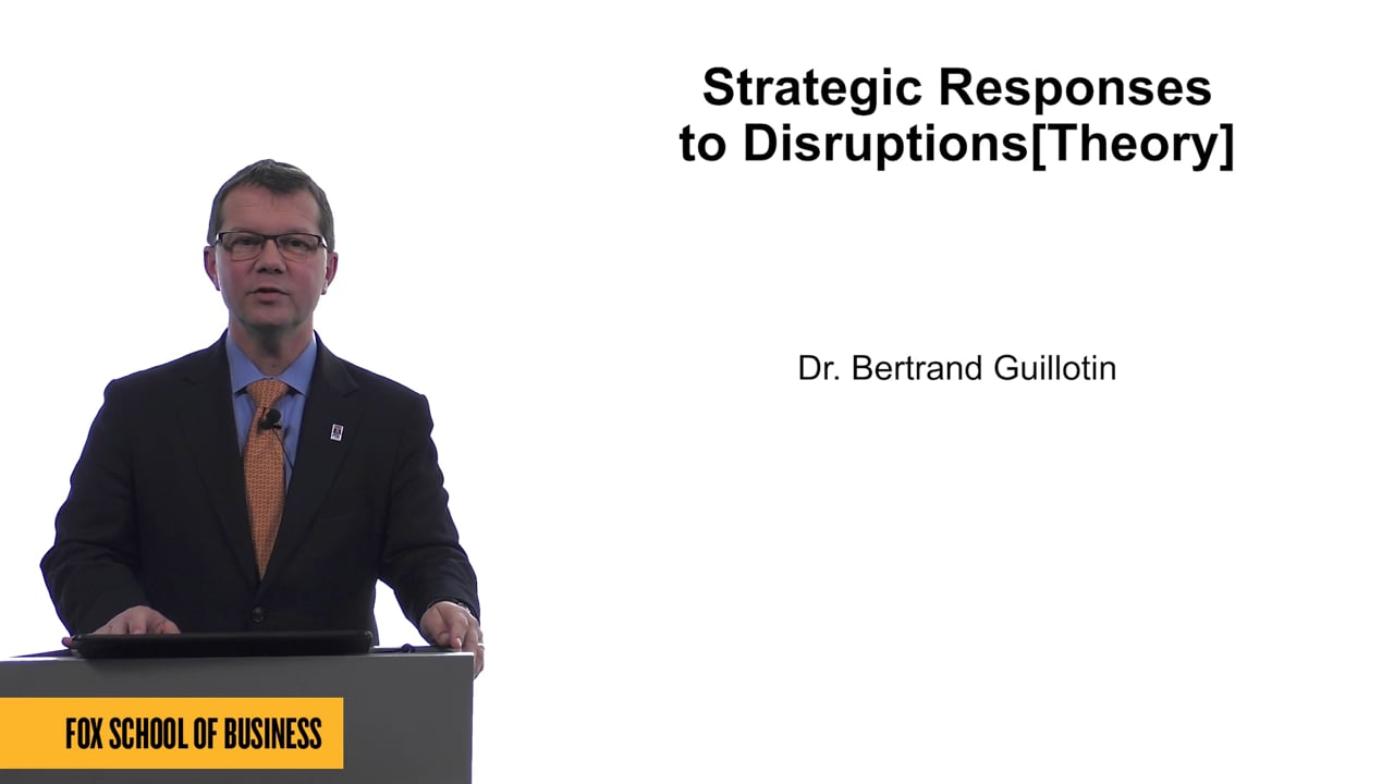 61666Strategic Responses to Disruptions[Theory]