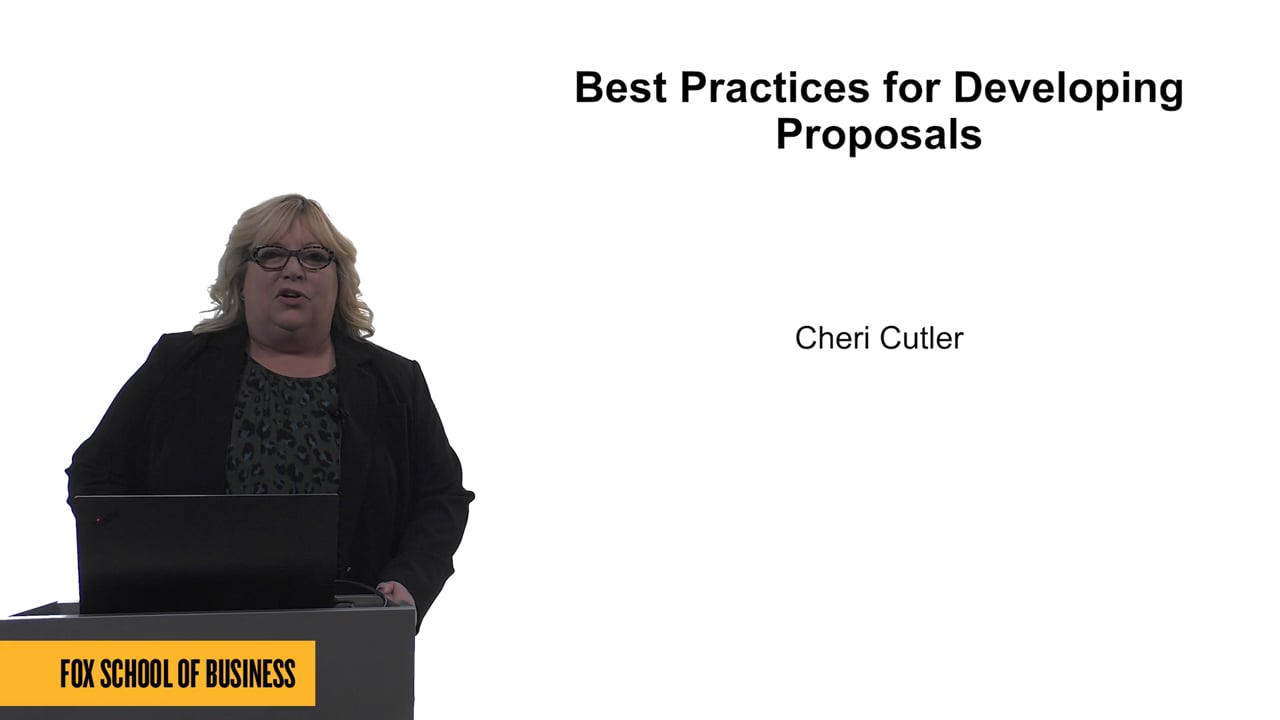61680Best Practices for Developing Proposals