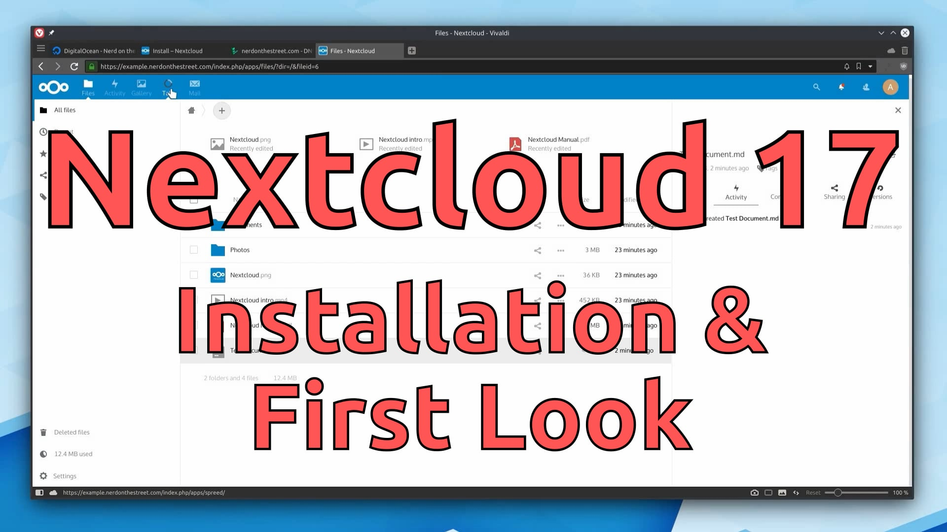 Nextcloud 17 on Debian 10 (Installation & First Look)