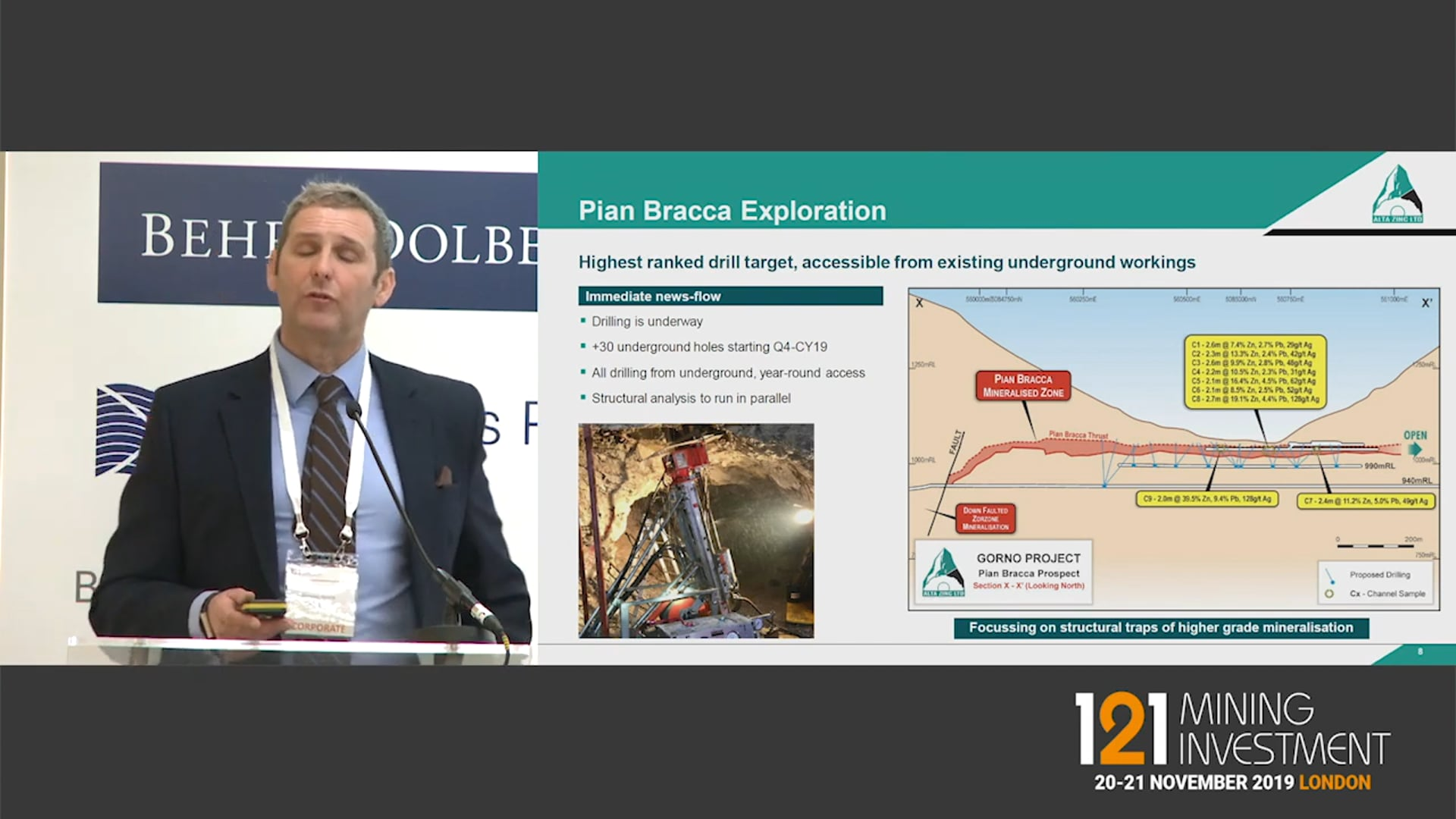 Alta Zinc 121 Mining Investment London Nov 2019