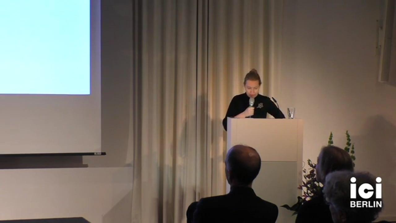 Talk by Eva Horn