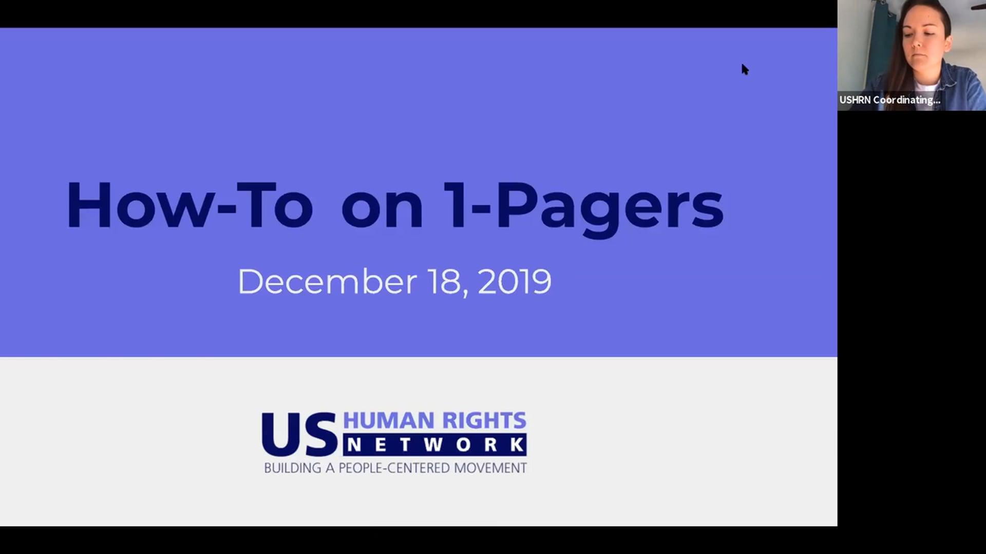 UPR Webinar Wednesday #8