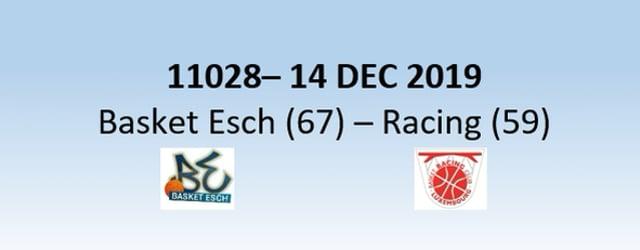 N1H 11028 Basket Esch (67) - Racing Luxembourg (59) 14/12/2019