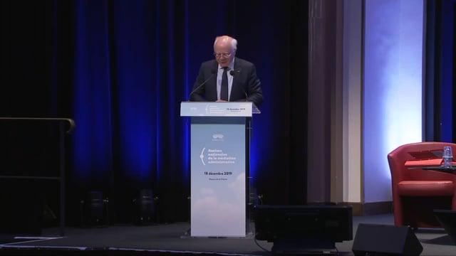 Ouverture des Assises par Bruno Lasserre, vice-président du Conseil d'État.
