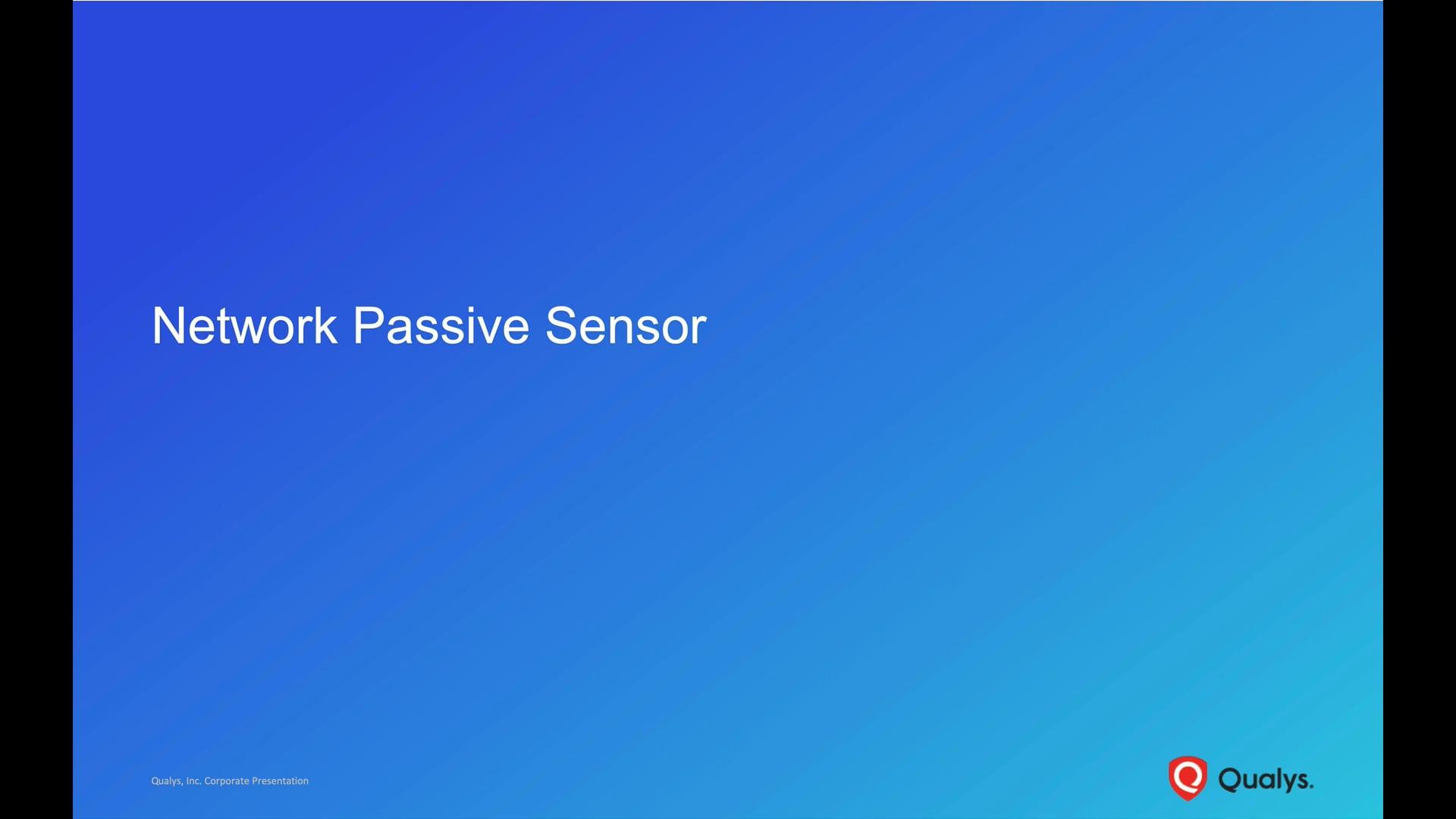 Network Passive Sensor Introduction