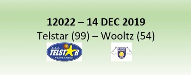 N2H 12022 Telstar Hesperange (99) - Les Sangliers Wooltz (54) 14/12/2019