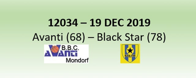 N2H 12034 Avanti Mondorf (68) - Black Star Mersch (78) 19/12/2019