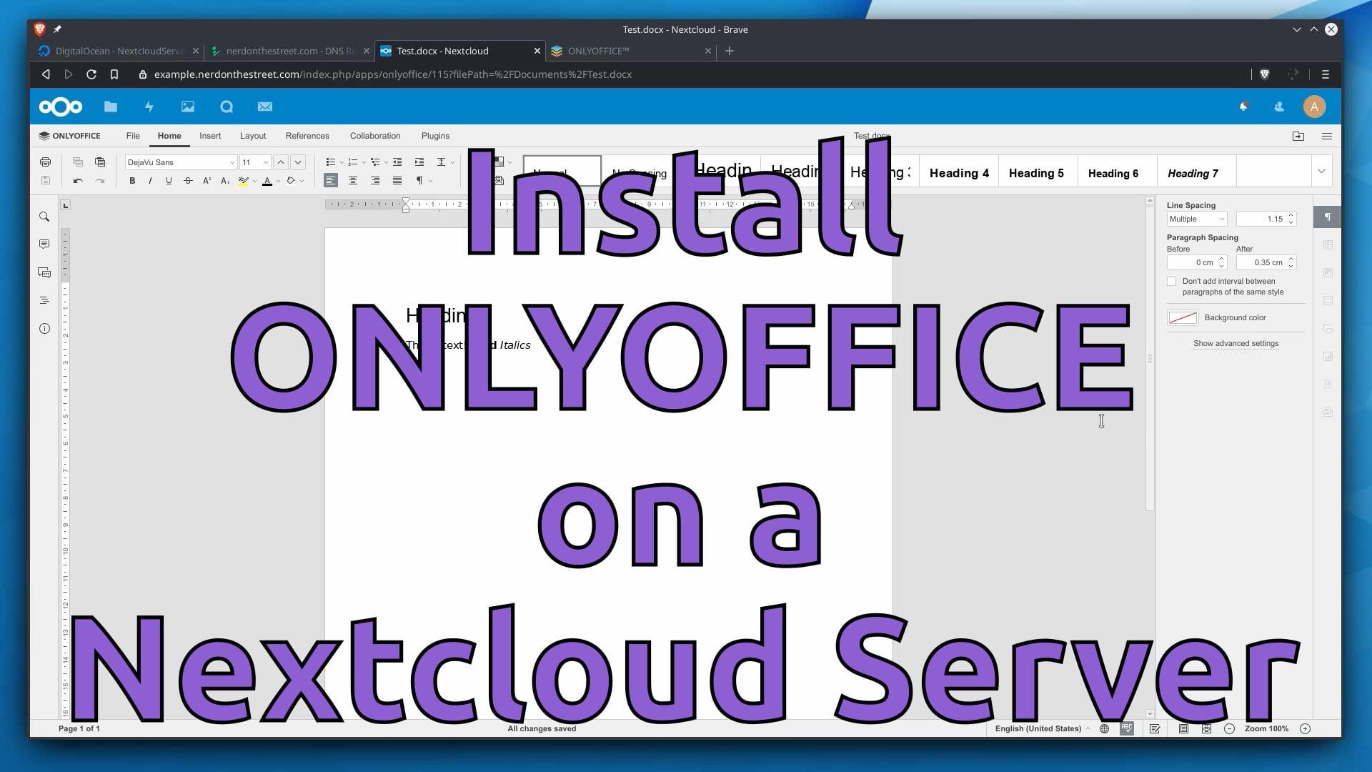 Install ONLYOFFICE on a Nextcloud Server