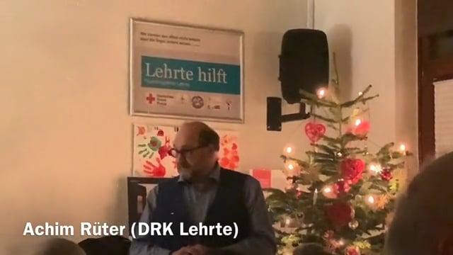 Weihnachtsfeier DRK Lehrte 2019 - Ansprache Achim Rüter (DRK)