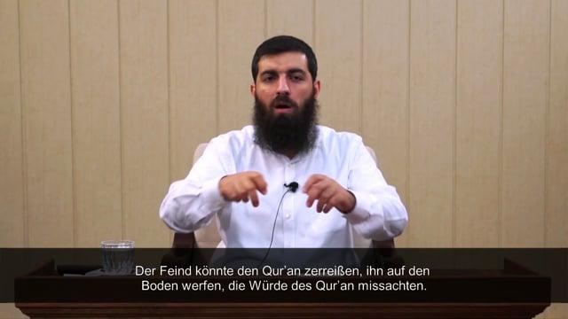 Ist es richtig Broschüren, worauf Ayat stehen, hier und da abzulegen? - Scheich Ebu Hanzala