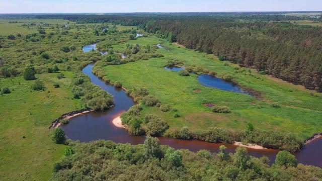 Rural Ukraine 80 miles from Chornobyl - 4K Drone Footage