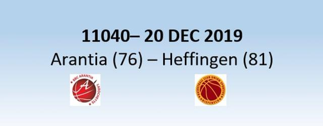 N1H 11040 Arantia Larochette (76) – US Heffingen (81) 20/12/2019