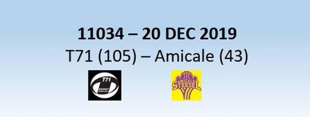 N1H 11034 T71 Dudelange (105) - Amicale Steinsel (43) 20/12/2019