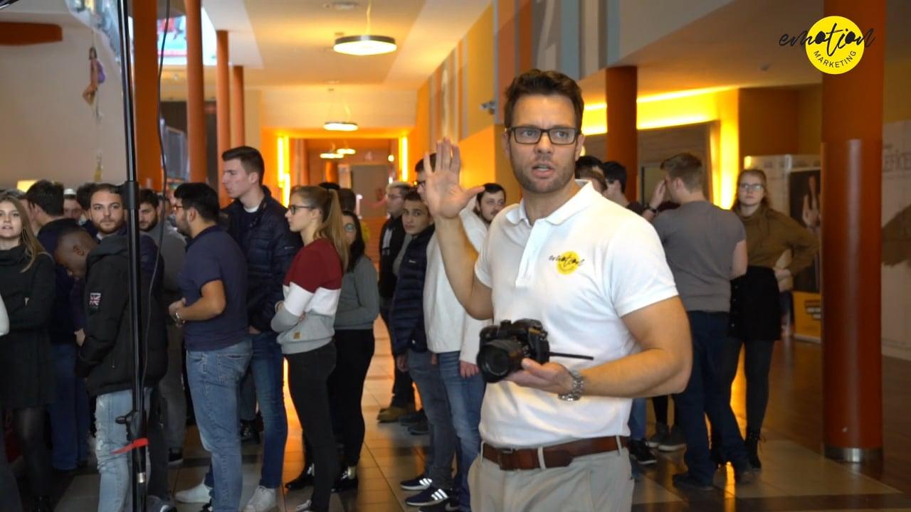 Markus Zimmermann produziert den zweiten Kinospot mit der Friedrich Dessauer Schule in Limburg