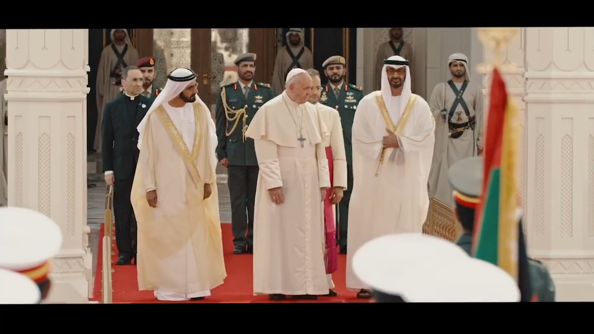 Pope and Iman in Abu Dhabi