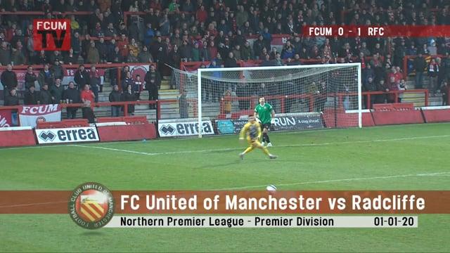 FC United vs Radcliffe - Goals - 01-01-20