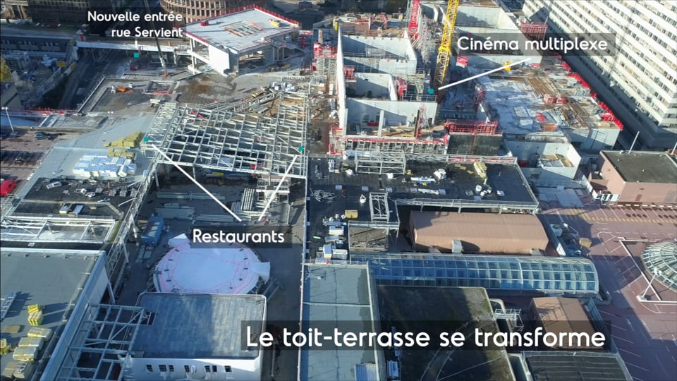 SPL Part-Dieu - images aériennes du centre commercial