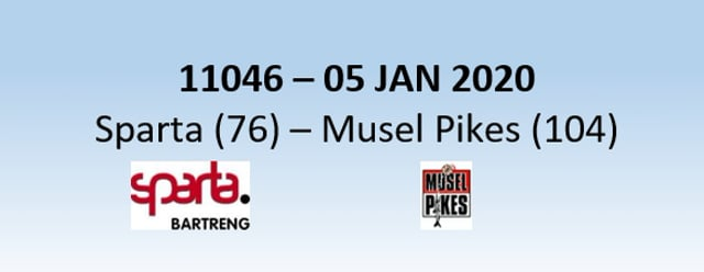 N1H 11046 Sparta Bertrange (76) - Musel Pikes (104) 05/01/2020