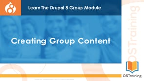 Creating Group Content
