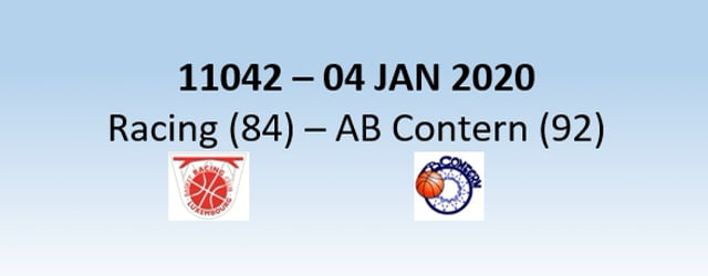 N1H 11042 Racing Luxembourg (84) - AB Contern (92) 04/01/2020