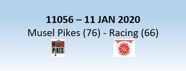 N1H 11056 Musel Pikes (76) - Racing Luxembourg (66) 11/01/2020