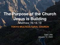 Mt. 16:18-19. The Purpose of the Church Jesus is Building. Jan 2020.