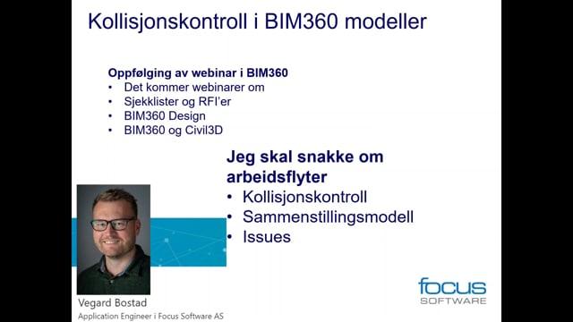 Kollisjonskontrol i BIM 360 Modeller