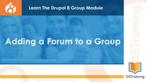 Adding a Forum to a Group