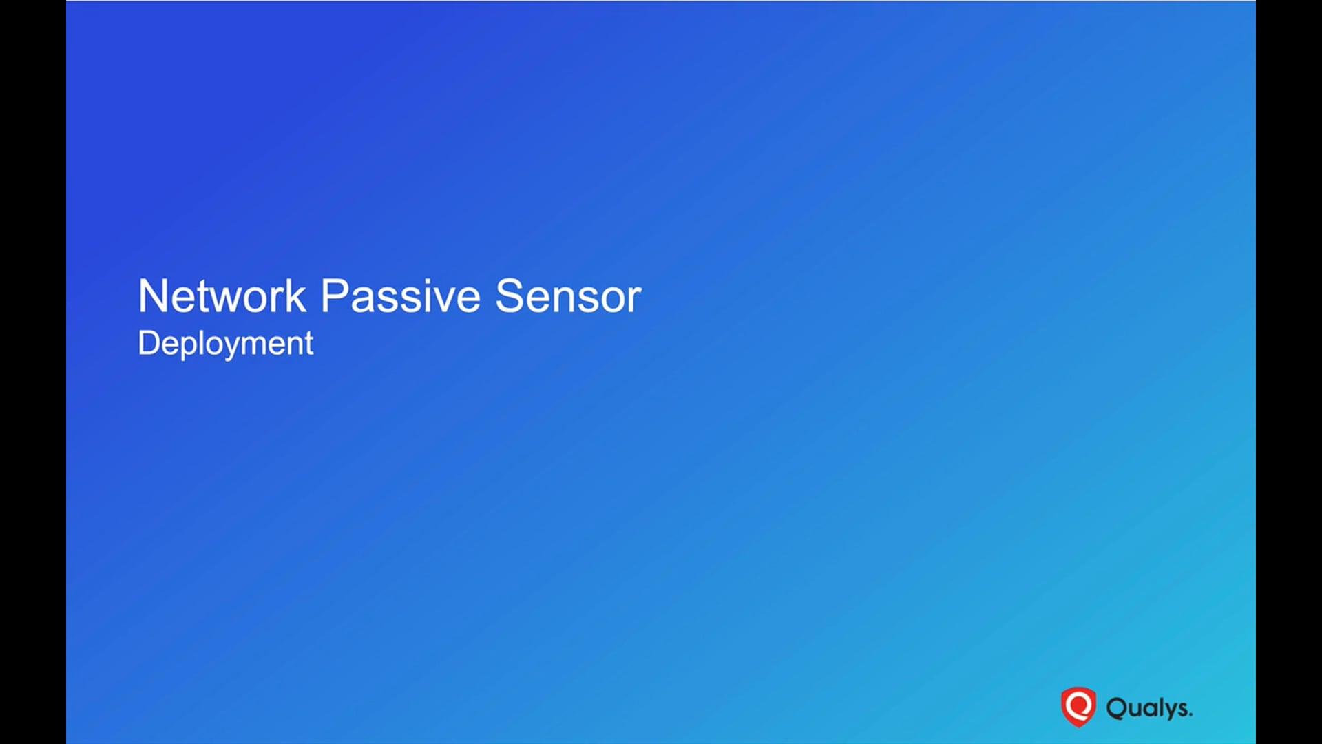Network Passive Sensor Training Video