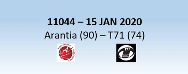 N1H 11044 Arantia Larochette (90) – T71 Dudelange (74) 15/01/2020