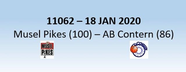 N1H 11062 Musel Pikes (100) - AB Contern (86) 18/01/2020