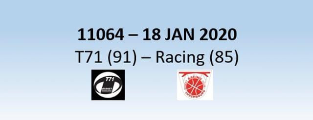 N1H 11064 T71 Dudelange (91) - Racing Luxembourg (85) 18/01/2020