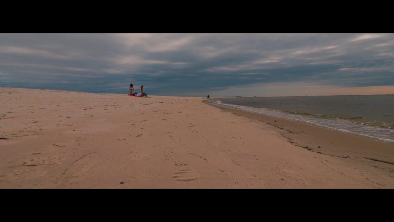 Sand and Grey Sky