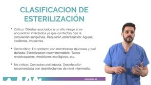 Esterilización del material quirúrgico
