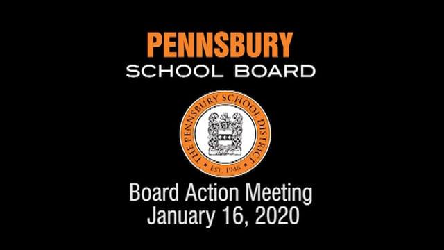 Pennsbury School Board Meeting for January 16, 2020