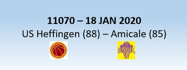 N1h 11070 US Heffingen (88) - Amicale Steinsel (85) 18/01/2020