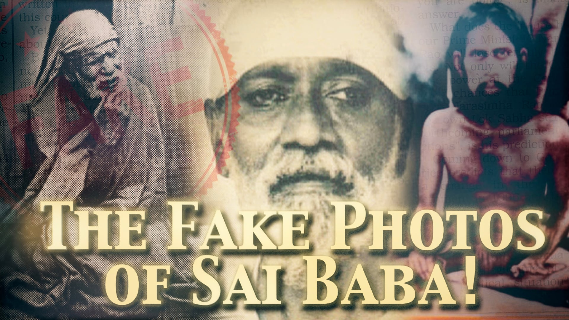 False photos of Sai Baba