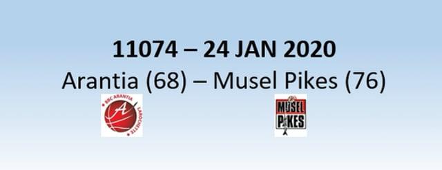 N1H 11074 Arantia Larochette (68) - Musel Pikes (76) 24/01/2020