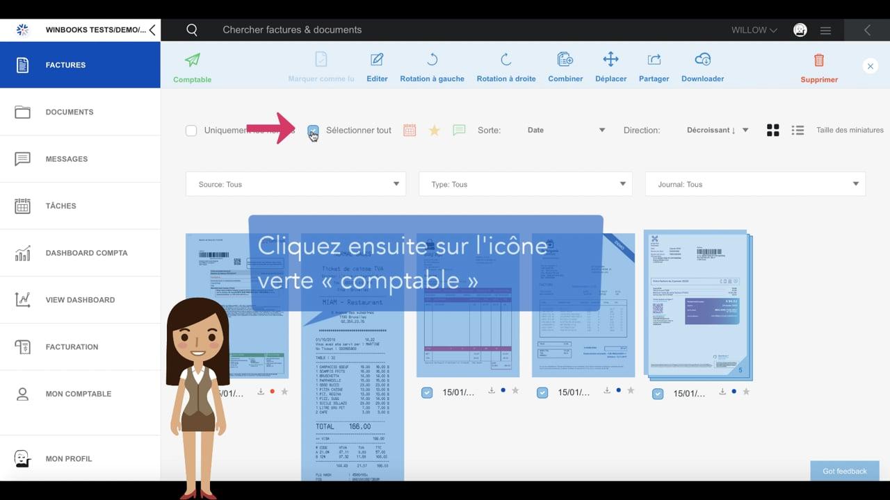 #tuto WinBooks – Envoyez vos factures à votre comptable via WinBooks Connect