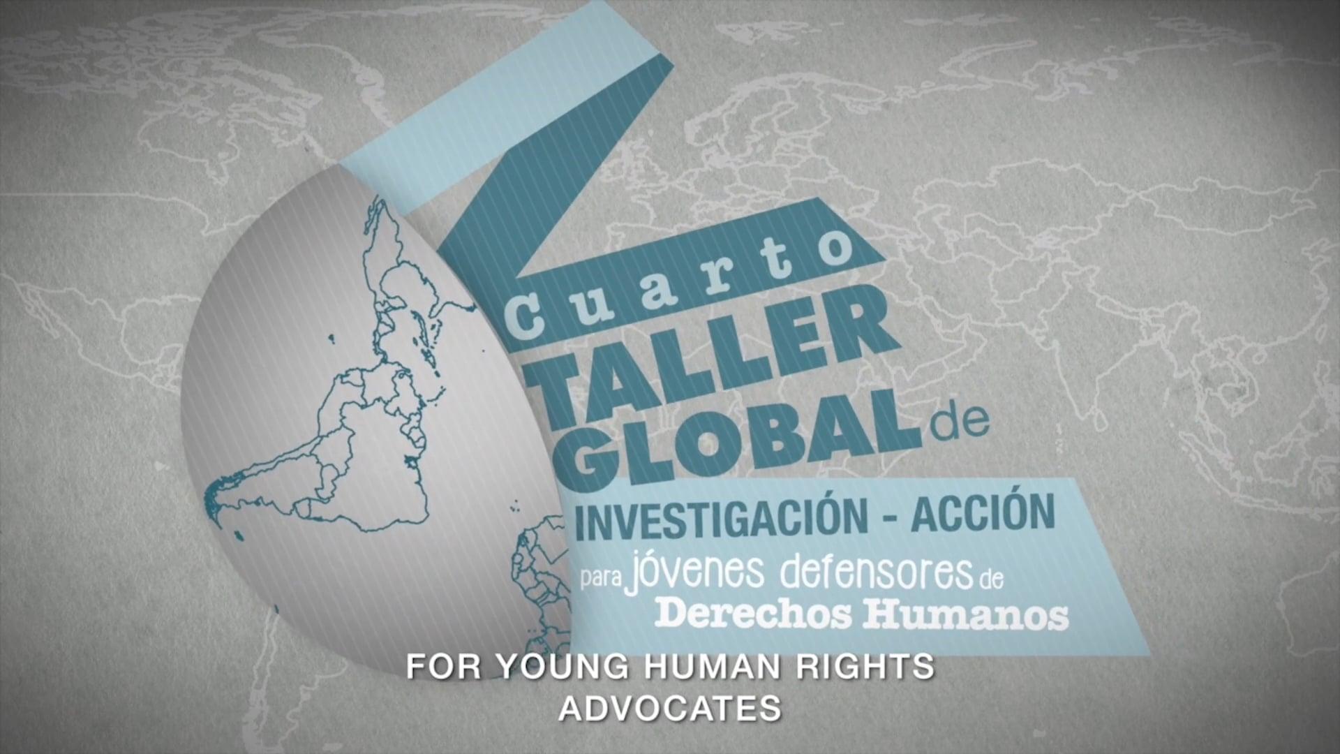 IV Taller de Investigación Acción para jóvenes defensores de Derechos Humanos, Dejusticia