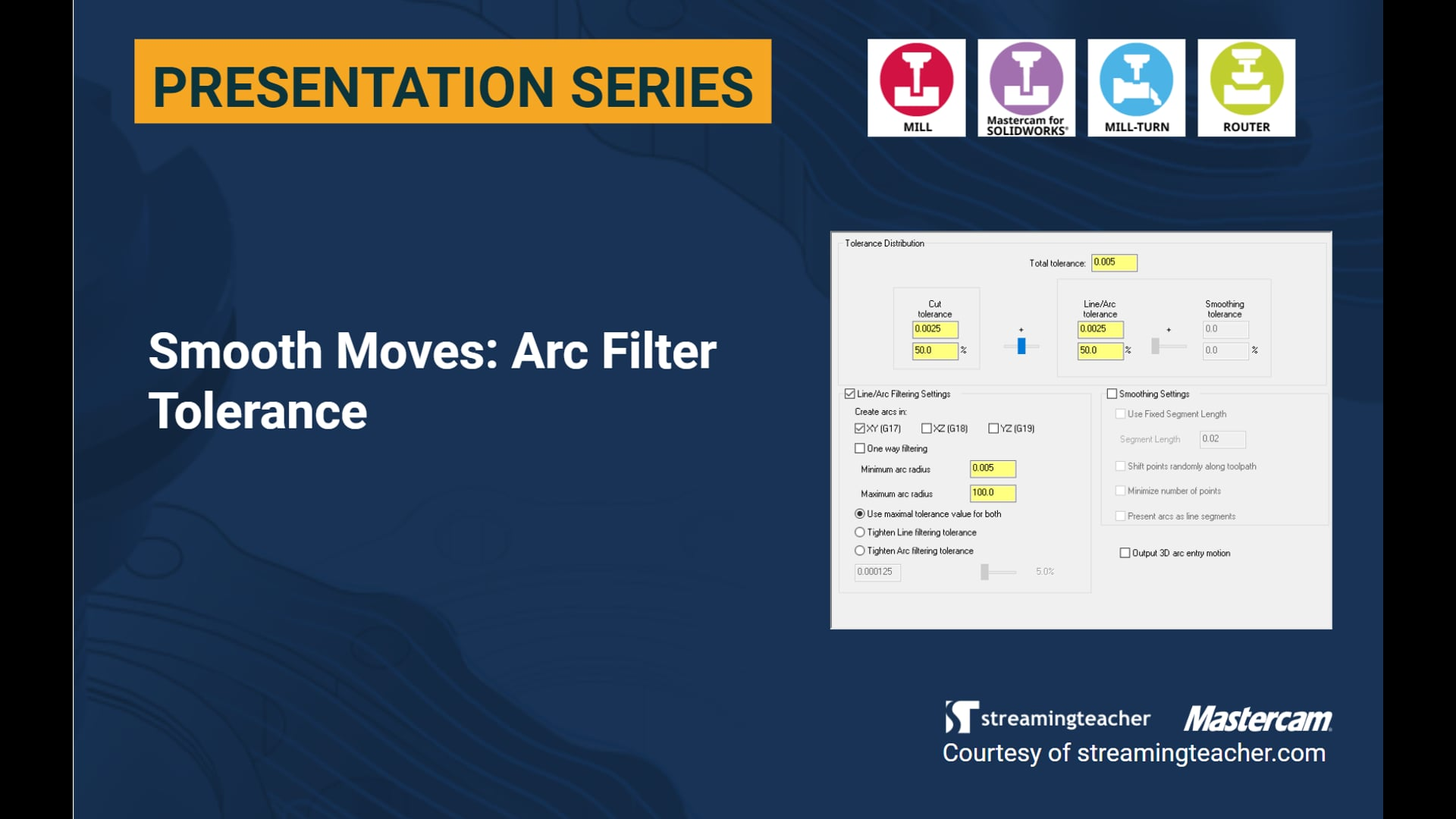 Smooth Moves: Arc Filter Tolerance