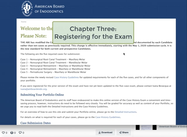 C. Chapter Three - Registering for the Digital Case History Exam