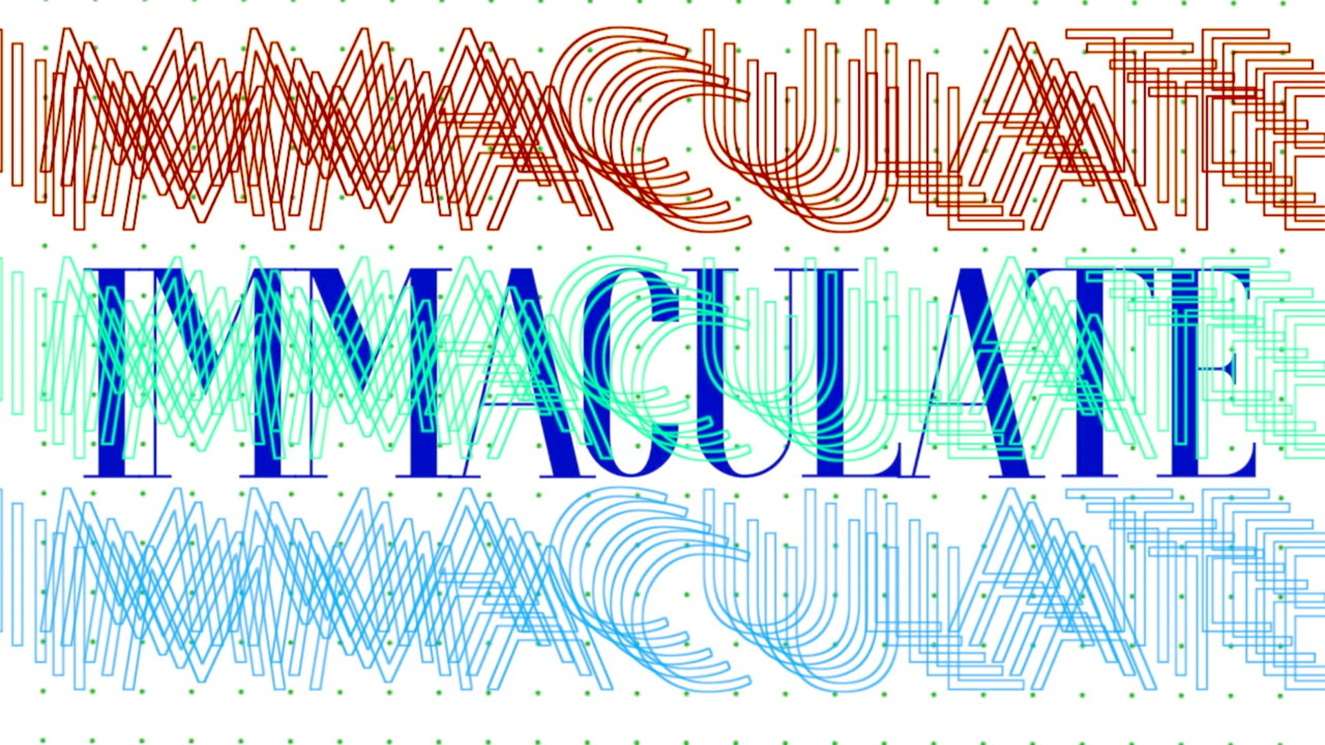 IMMACULATE | Experimental Typography MV