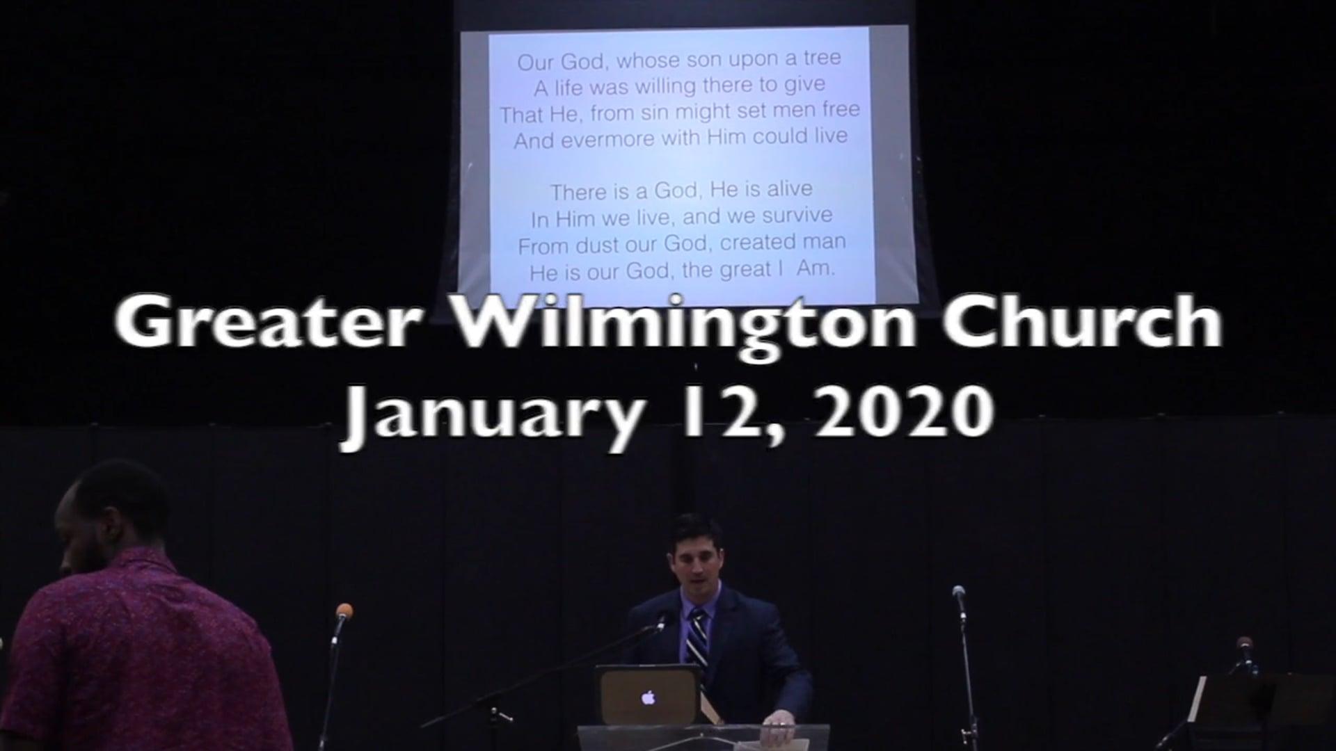 GWC Service - January 12, 2020