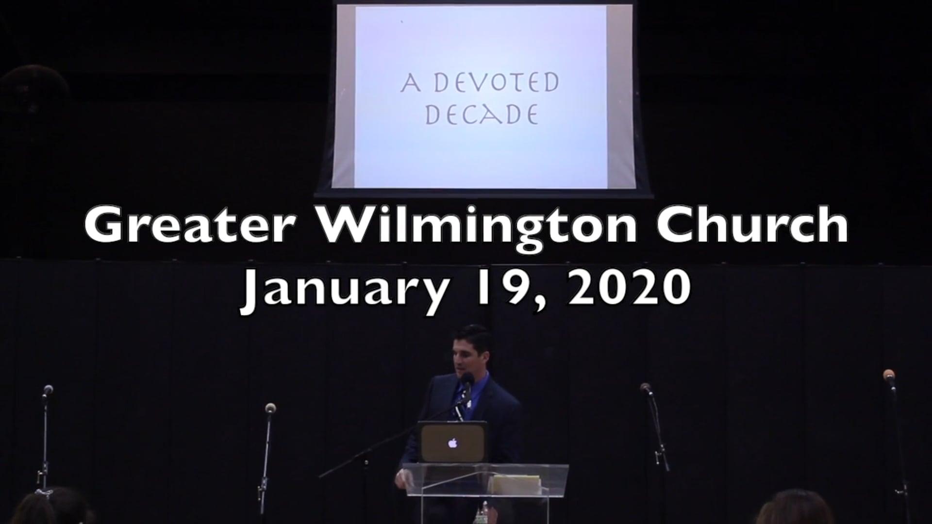 GWC Service - January 19, 2020