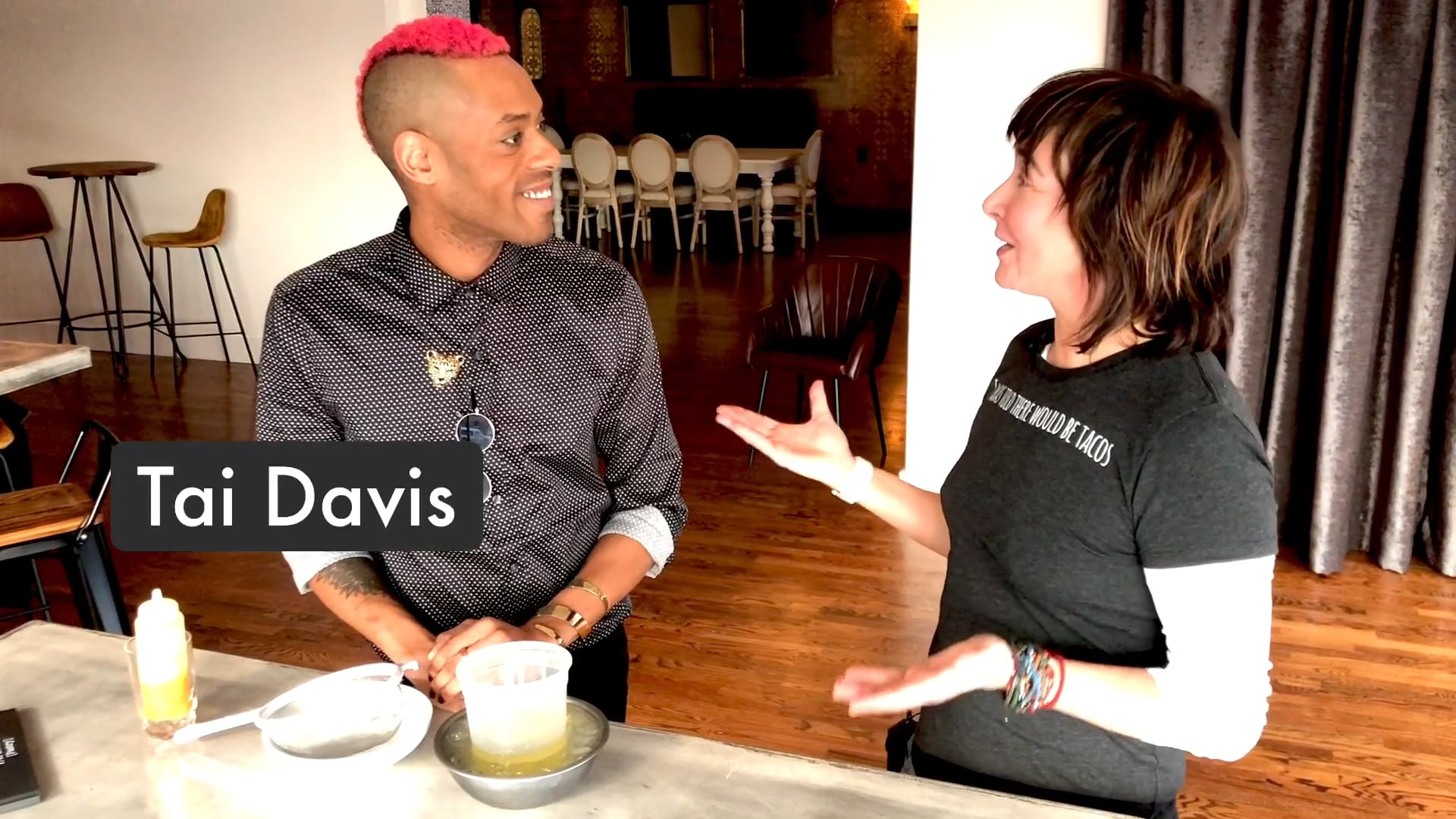 Chef Tai Davis starts the new year off with a bang!