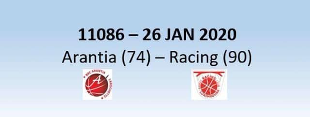 N1H 11086 Arantia Larochette (74) - Racing Luxembourg (90) 26/01/2020