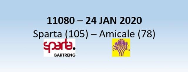 N1H 11080 Sparta Bertrange (105) - Steinsel (78) 24/01/2020